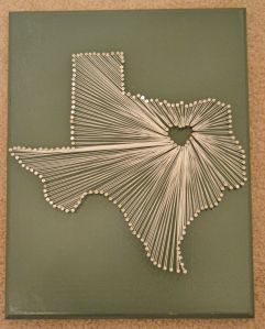 Texas nail and string board