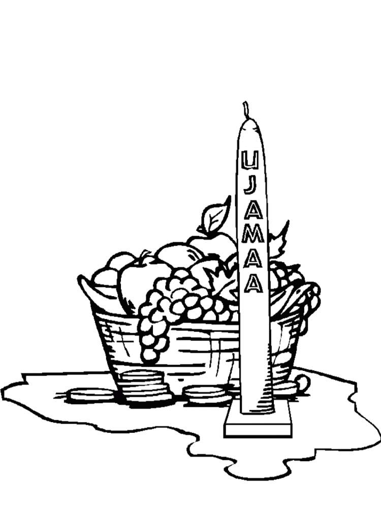 Picture Happy Kwanzaa Coloring Page Fruit Coloring Pages