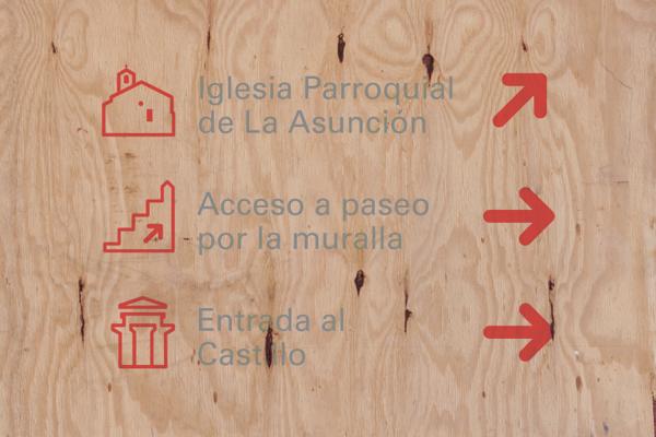 Villa de Granadilla, pictogramas y señalética by Jorge Atrespuntos, via Behance