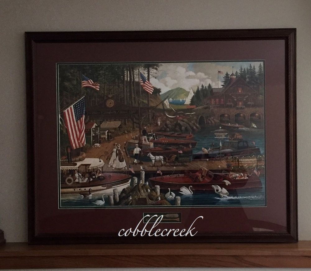 Lost In The Woodies Charles Wysocki S N Publisher S Proof Framed Local Pickup Americana Wysocki Charleswysocki Woodboat Chriscra Frame Publishing