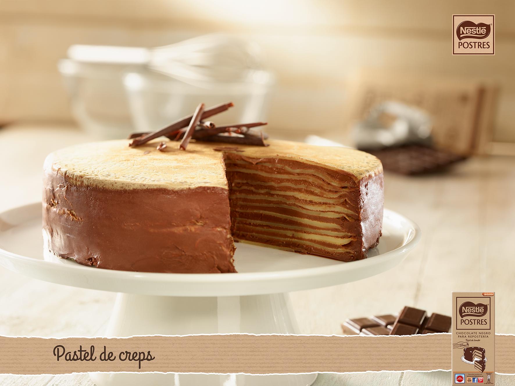 Pastel De Crepes Con Chocolate Pasteles Reposteria Recetas Recetas Dulces