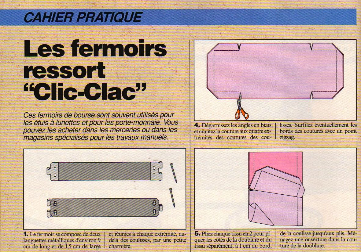 patron pour fermoir clic clac diy cuir pinterest. Black Bedroom Furniture Sets. Home Design Ideas