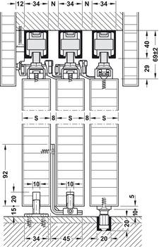 Set Components Hawa Telescopic 80 3 Set Order From The Hafele N Z Shop Wooden Sliding Doors Sliding Door Systems Modern Room Design