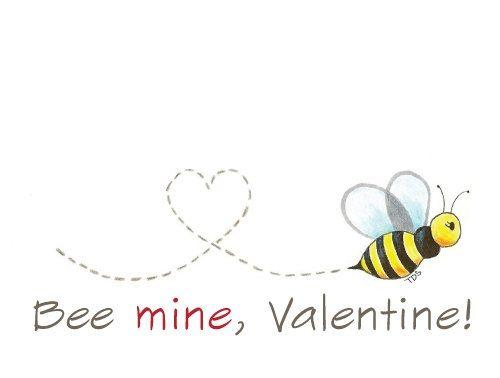 PDF Printable Bee Mine Valentine Card – Bee Mine Valentine Card