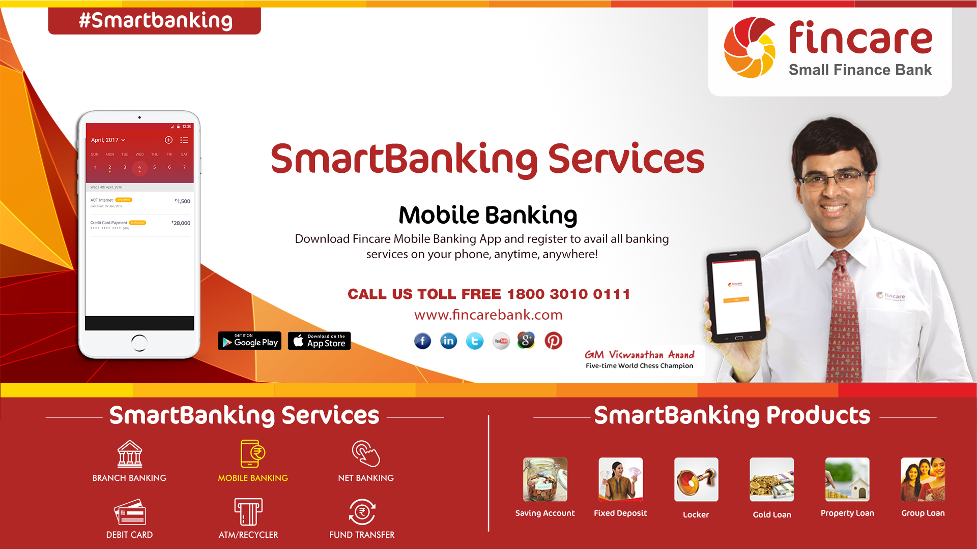 SmartBanking Services! Mobile Banking Download Fincare