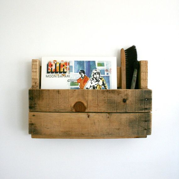 Marvelous Items Similar To LP Vinyl Record Recycled Wood Palette Wall Hanging Shelf  Storage On Etsy