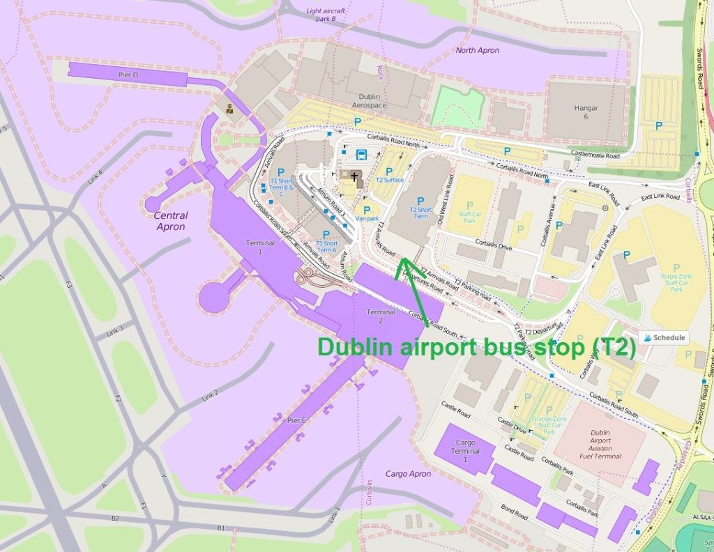 Best way from Dublin airport to Dublin city center   Travel   Dublin Dublin City Center Map on