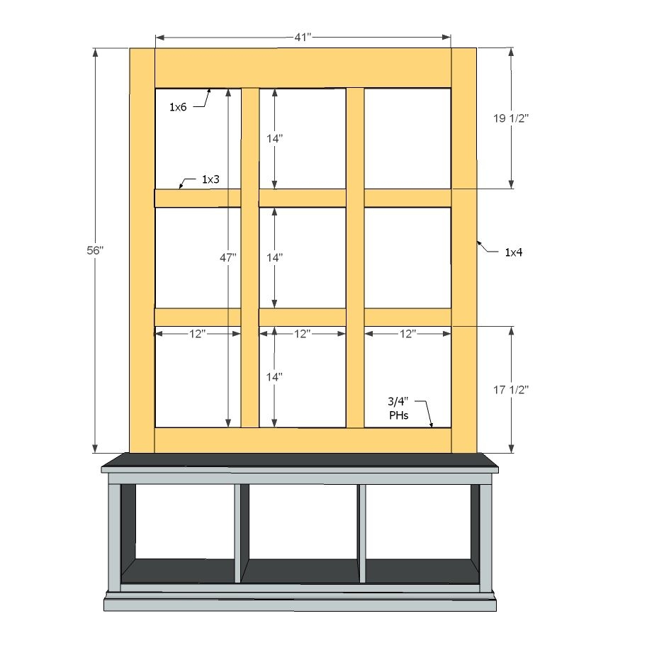 Mudroom Cubbies Plans Diy Mud Room Bench With Great Tutorial Do This For Dining Room