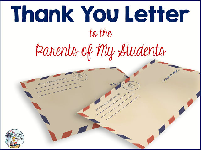 A Thank You Letter to Parents of My Students Letter to