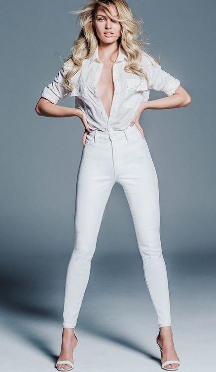 Yuksek Bel Beyaz Kot Pantolon Nasil Giyilir Beyaz Kotlar Unlulerin Tarzlari Kiyafet