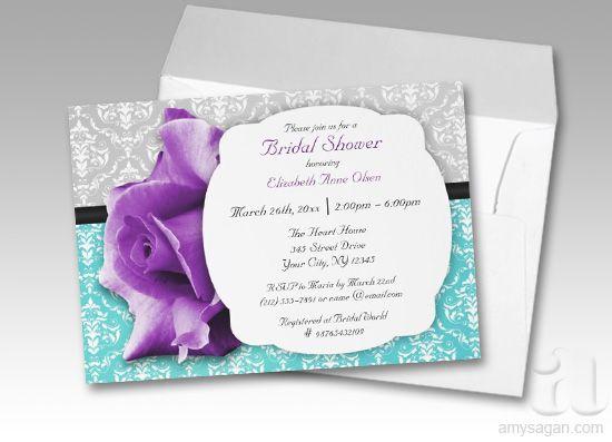 purple and teal wedding invitations – frenchkitten, Wedding invitations