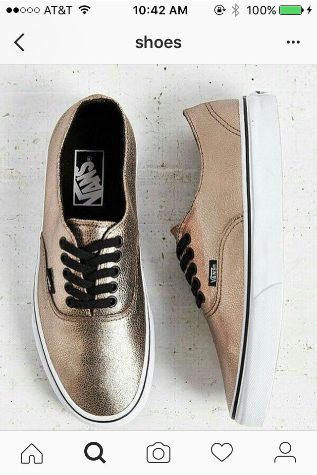 These Vans Are So Cool I M Obsessed With Gold Now Very Vans Cy