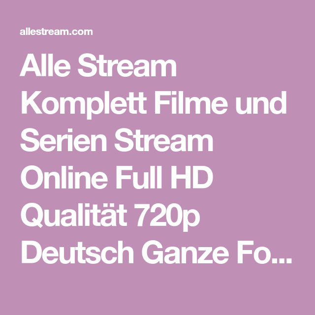 Hd Filme Serien Stream