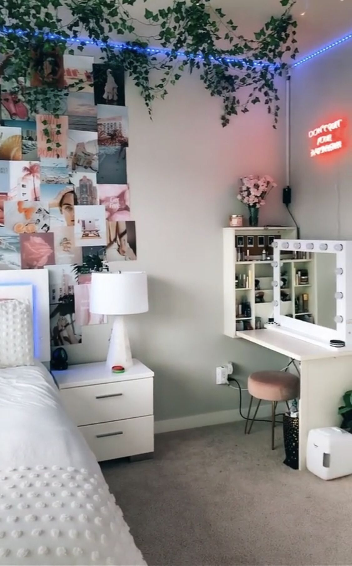 #room #roomdecor #decor #aesthetic Teen bedroom decorations Teen-bedroom-decorations Bedroom decorating ideas Blue bedrooms Furniture design Design Tiny house design Ceiling design Tiny house kitchens Small balconies Space saving Murphy beds Compact kitchen Small home offices