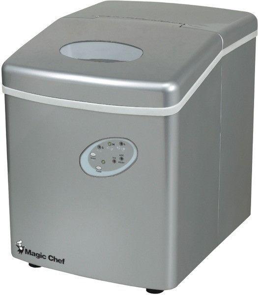Magic Chef 27lb Portable Mini Ice Maker Silver Portable Ice