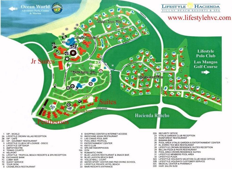Lifestyles Vacation Resort Puerto Plata Map Layout Lifestyles Holidays Club