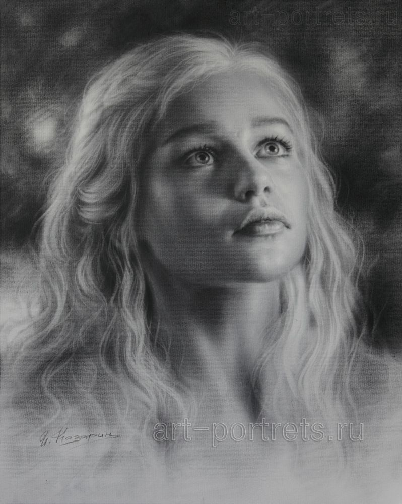 1000 images about emilia clarke on pinterest emilia - Drawing Emilia Clarke Is Looking Up By Dry Brush By Drawing Portraits Deviantart