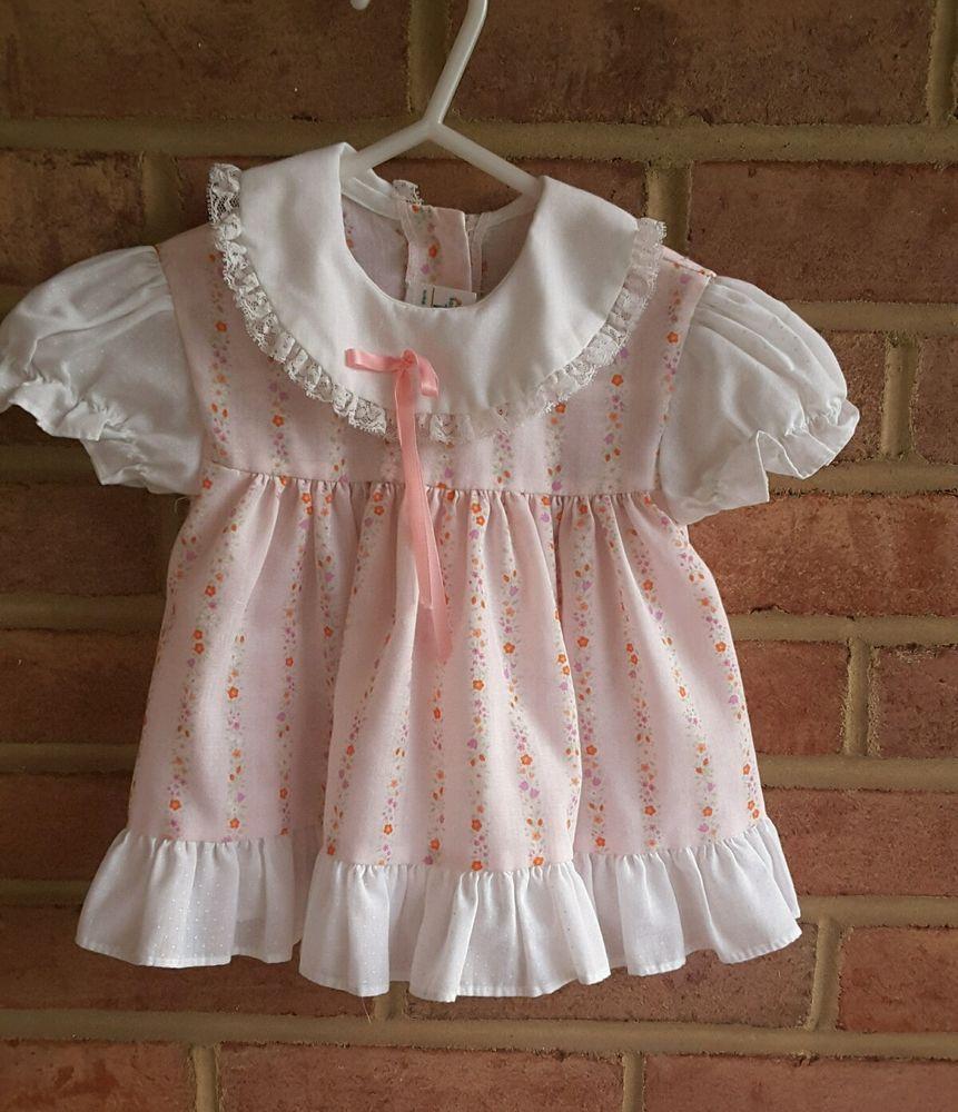 a7de97f59ed5 Vintage Baby Toddler JCPenney Toddletime Dress Pink floral Spring 12 mos