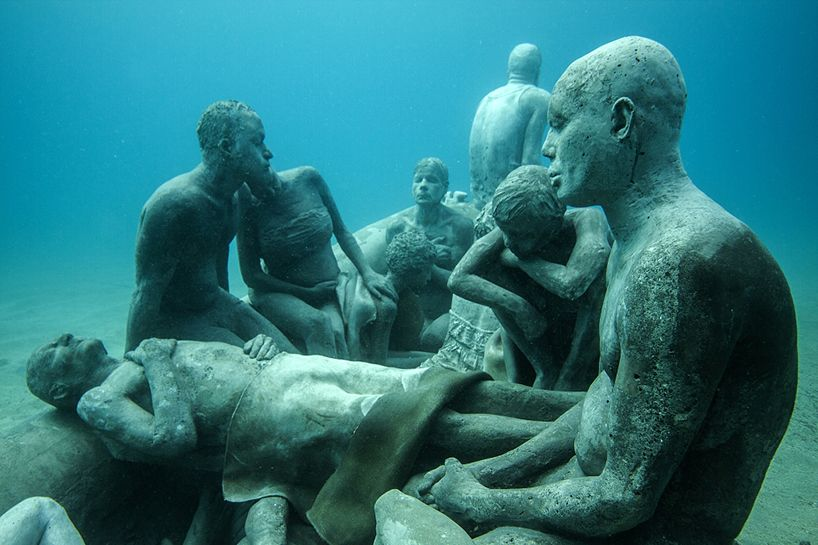 Jason Decaires Taylor Submerges Underwater Museum Off The Coast Of - Europes first ever underwater museum is full of hyperrealistic human sculptures
