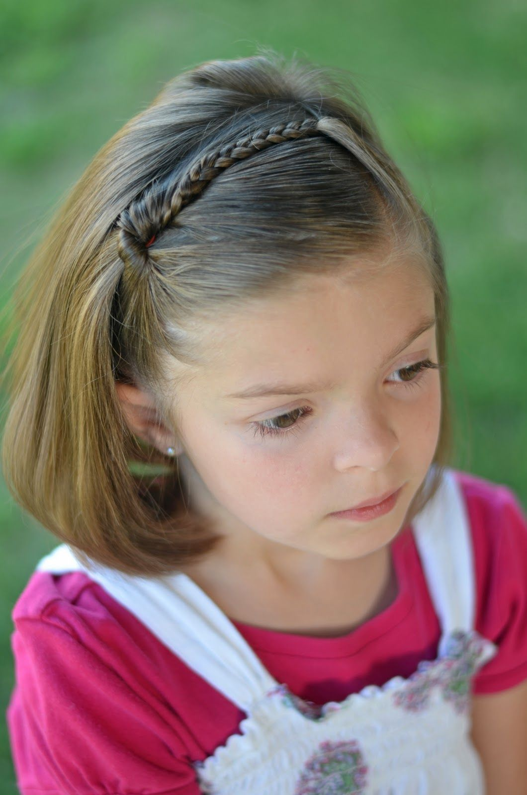 Braid On Pony Short Hairstyle With Images Short Hair For Kids