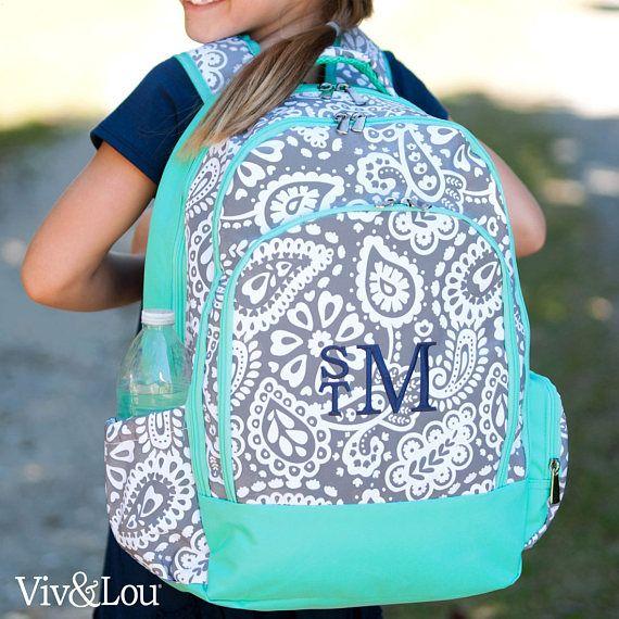 098ed673ed67 Monogrammed Backpack-Personalized Backpack-Paisley Backpack-Parler ...