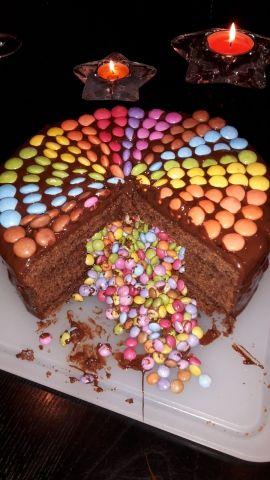 Regenbogen Schoko Torte Rezept Ichkoche At Birthday Cake