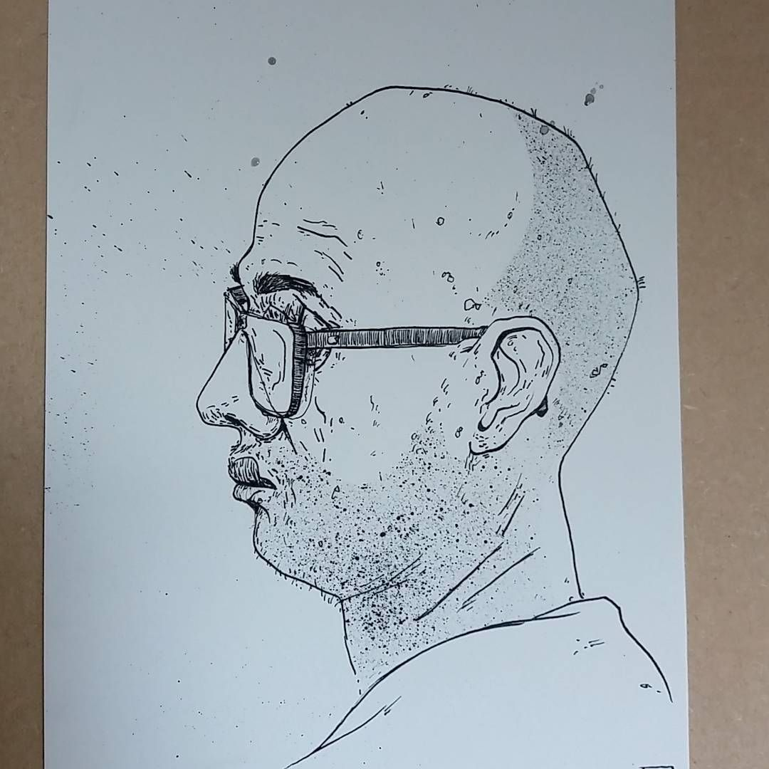 pen and ink portrait practice this morning been a while since I
