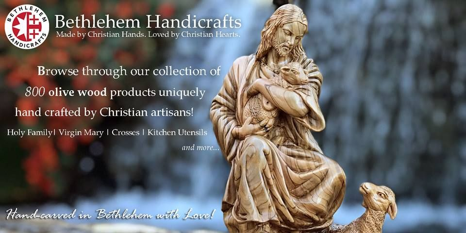 Hand Carved In Bethlehem With Love Olive Wood Handmade