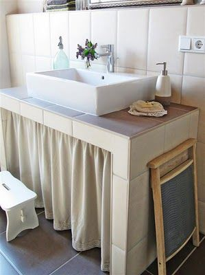feenraum unser selbstgebauter waschtisch ideen rund ums haus pinterest waschtisch. Black Bedroom Furniture Sets. Home Design Ideas