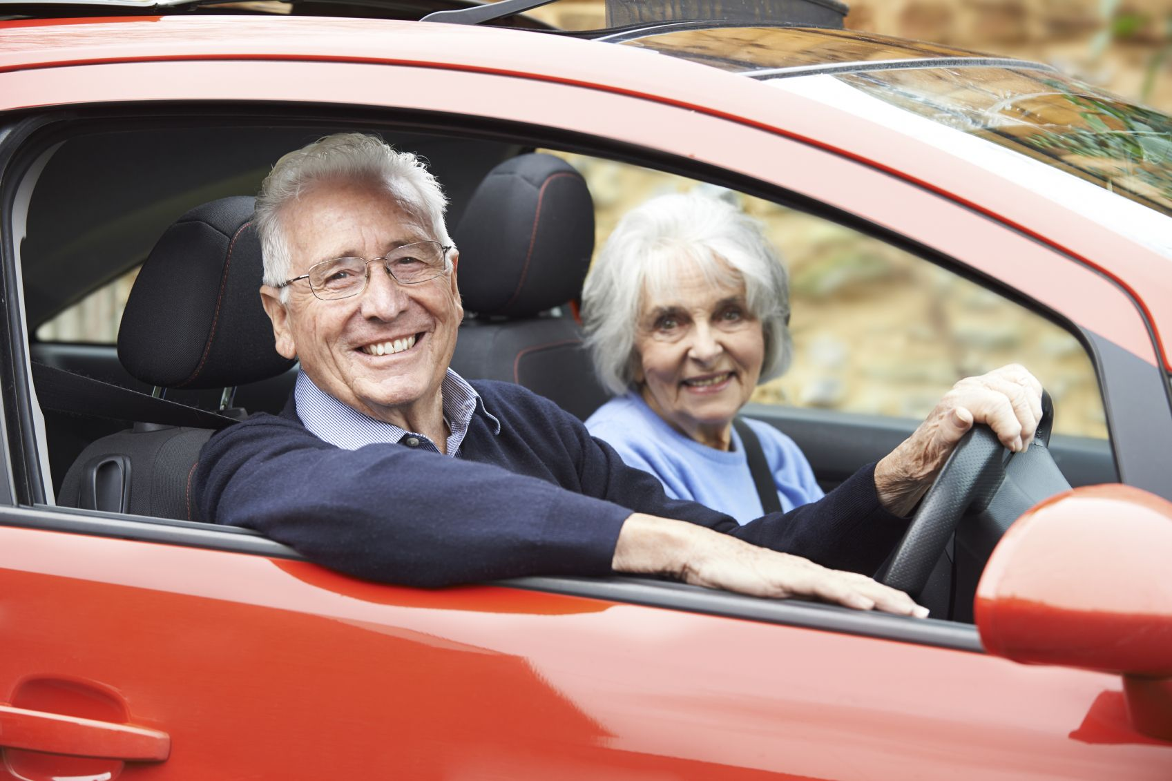 older people driving in car Google leit (With images