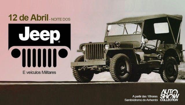 Noite Dos Jeep E Veiculos Militares No Sambodromo Do Anhembi