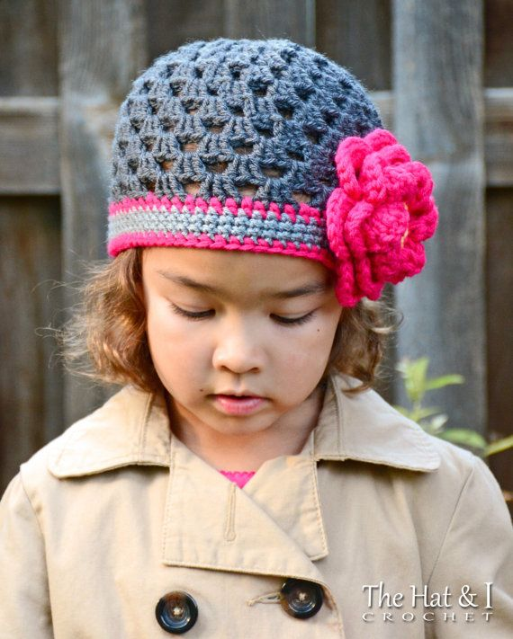 Crochet Pattern Flowerific Crochet Hat Pattern For Girls
