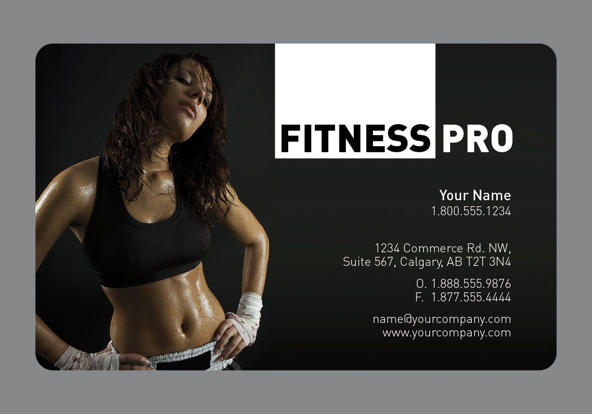Sample business card available on paper, card or plastic. Design ...