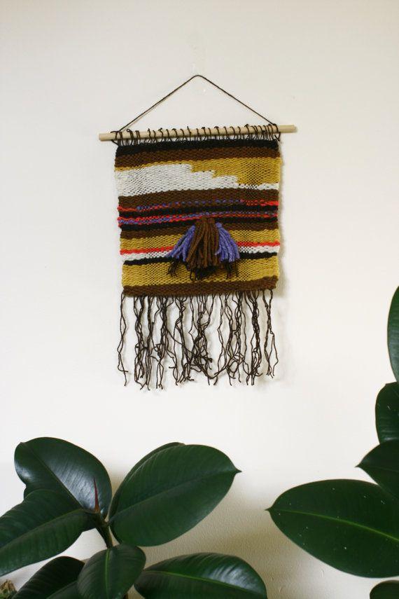 Weaving wall hanging Wall Weaving 100 Pure Wool by HHiedra