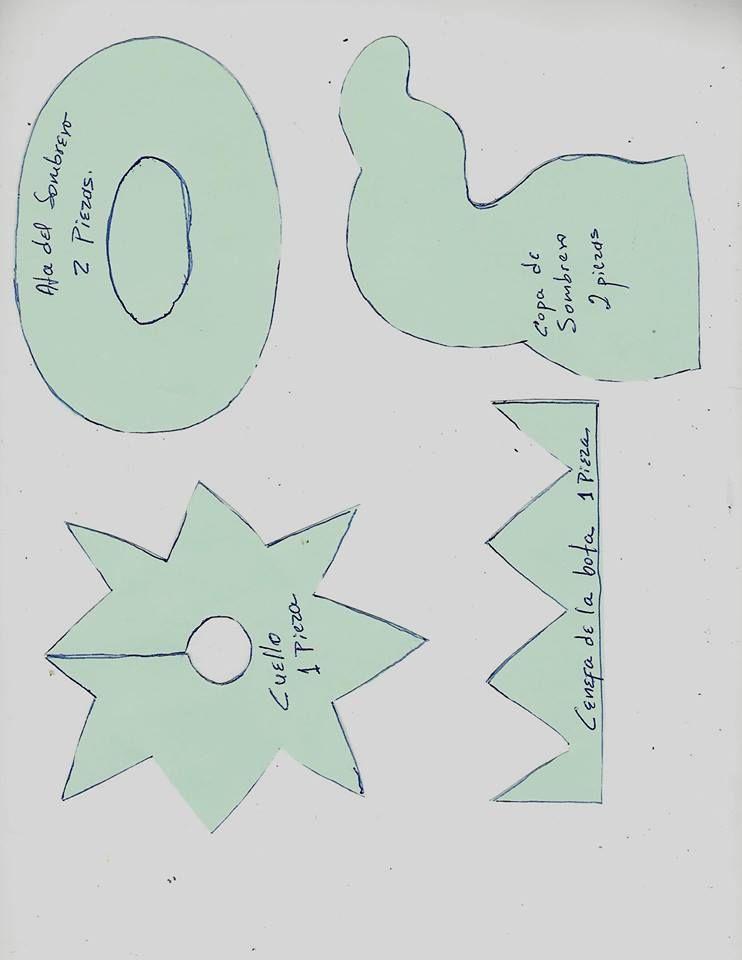 Pin de Ana en duendes | Pinterest | Moldes, Navidad y Duendes