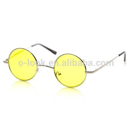 bd4514ceae0 Small Metal Round Circle Ozzy Elton John Color Tint Lennon Style Sunglasses