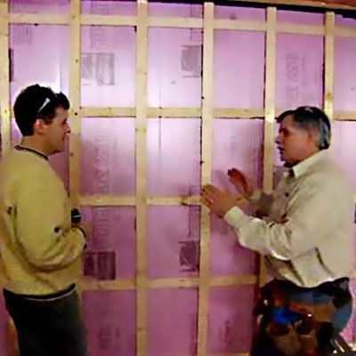 How to Finish a Basement Wall See more ideas about Block wall