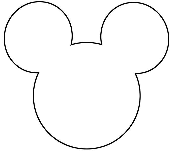 Imprimibles de la silueta de la cabeza de Mickey y Minnie