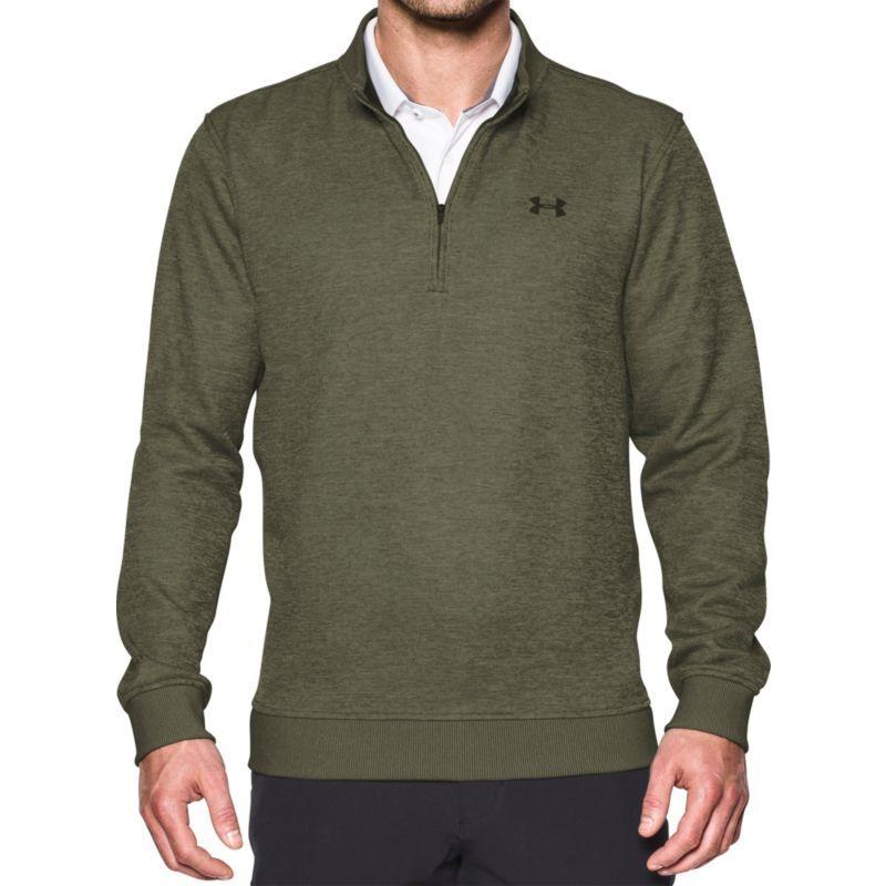 f18214fcb2449 Under Armour Men's Storm SweaterFleece Quarter-Zip Golf Pullover, Size:  Small, Artillery Green