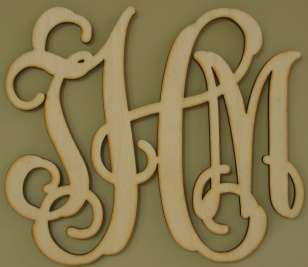 Southern Proper Monograms $18 for unfinished wood