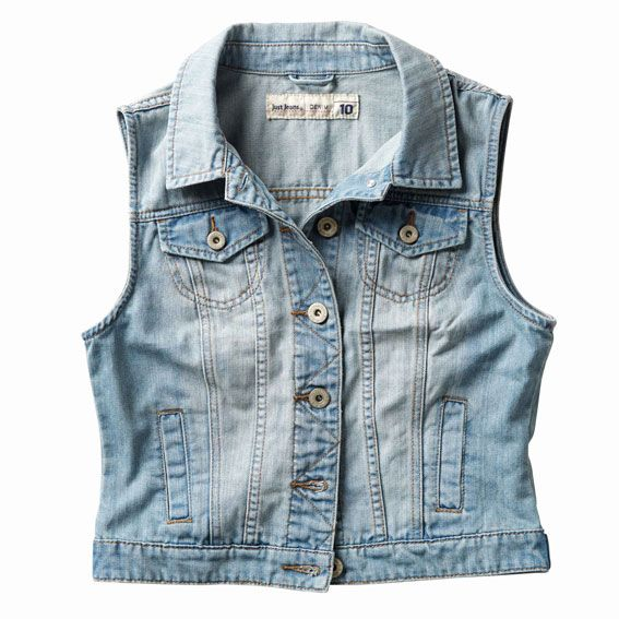 Just Jeans   Sleeveless Denim Jacket   $69.99