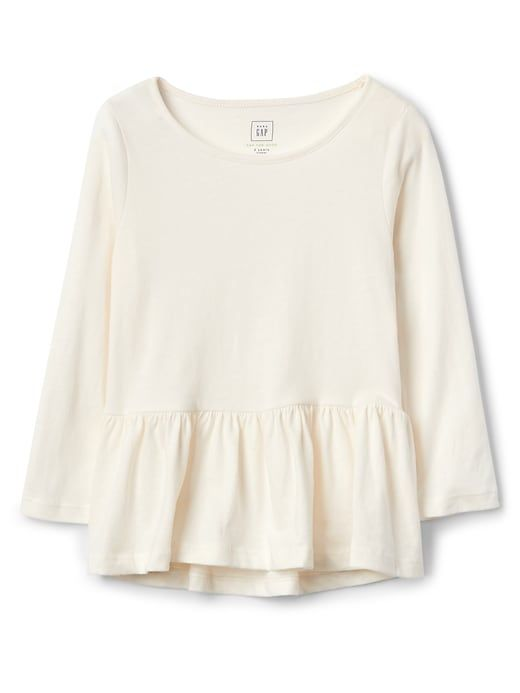 40e4dadac3327 Gap Baby Jersey Peplum Tunic Ivory Frost | Products in 2019 | Tunic ...