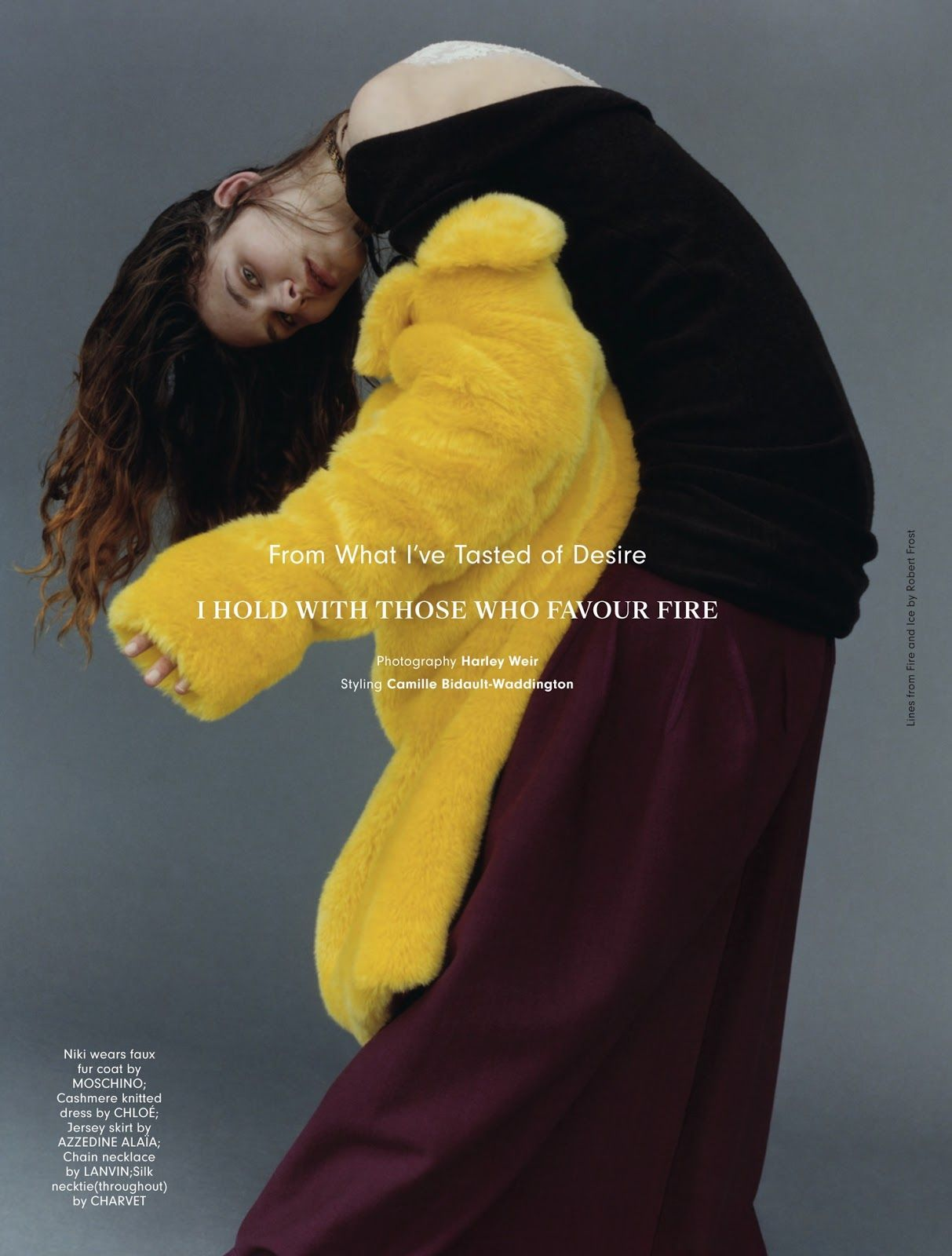 from what i've tasted of desire i hold with those who favour fire: barbara, celine, chloe, niki, pooja, sofia, sophie and yuanne by harley weir for anOther autumn / winter 2015 | visual optimism; fashion editorials, shows, campaigns & more!
