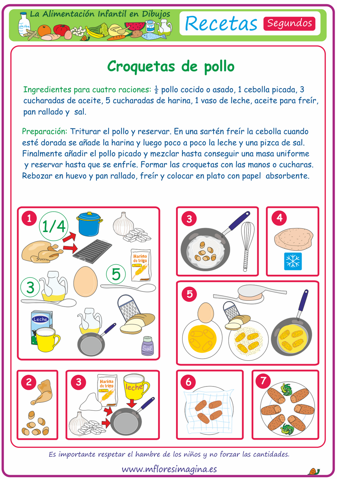 La Alimentaci N Infantil En Dibujos Segundos La Comida