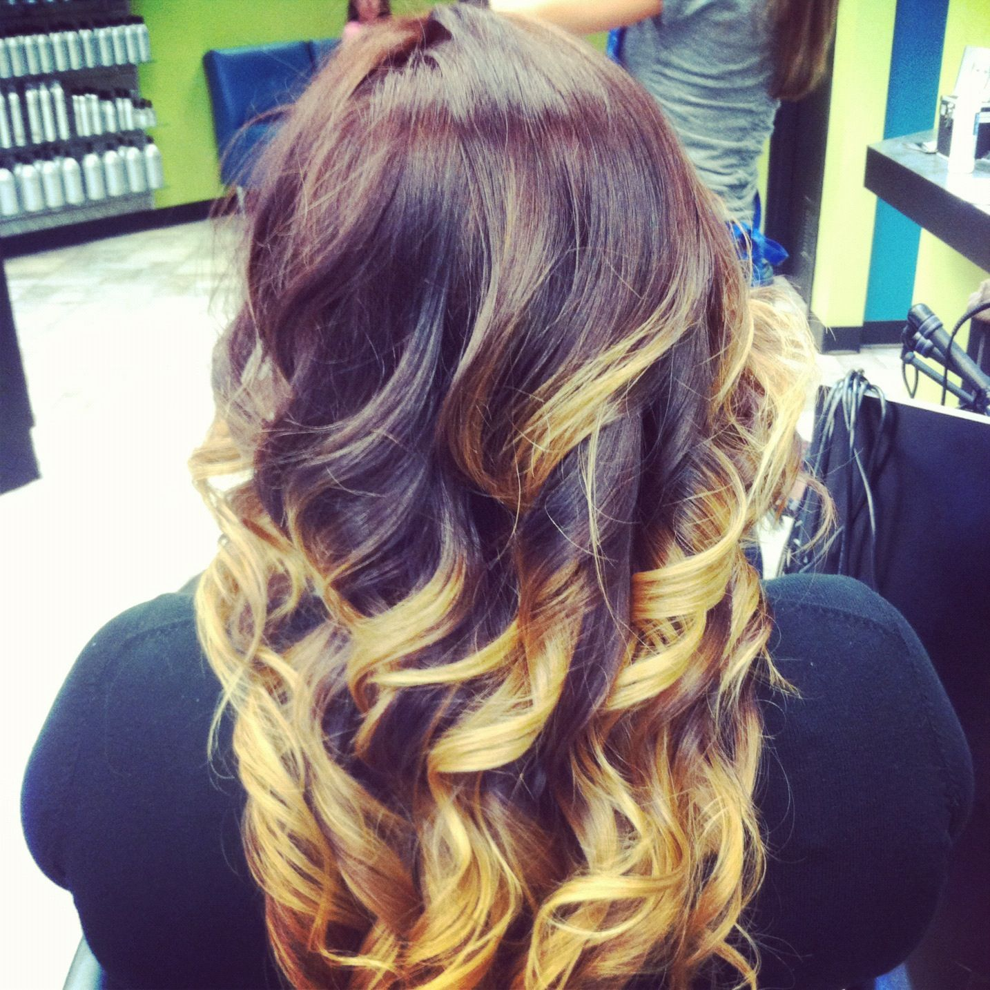 red and gold ombre!  so prerty!