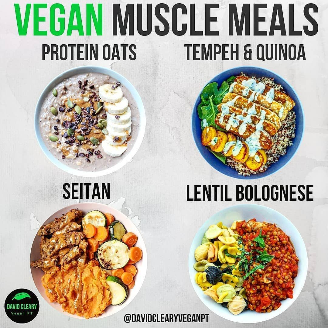Four Meals High In Calories Protein Perfect For Anyone Training Hard Vegan Veg High Protein Vegan Recipes High Calorie Meals Vegetarian High Protein