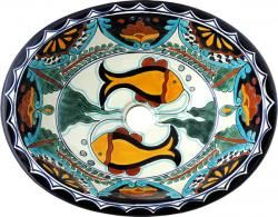 Acapulco   Mexican Talavera Oval Drop  In Sink I Would Love This Fish Sink  In Gallery