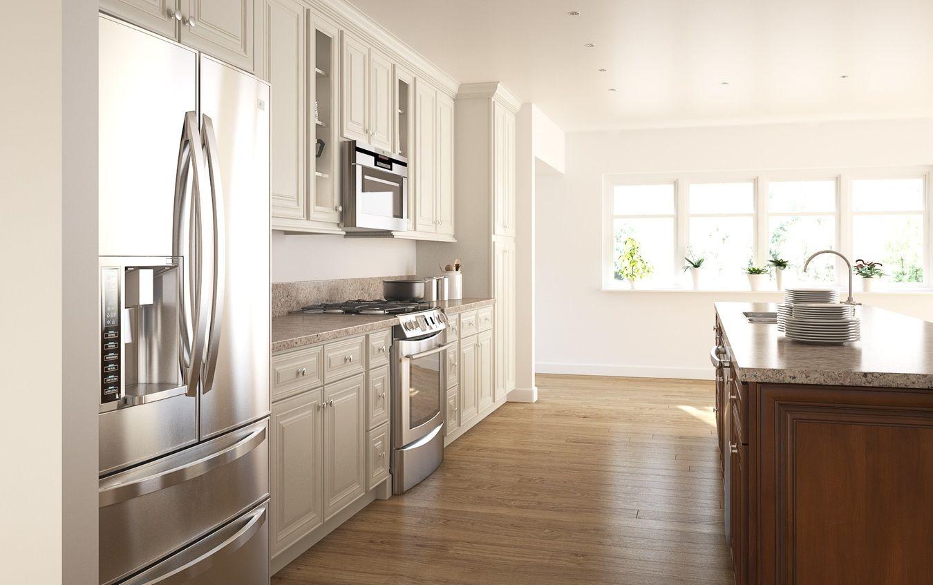 Cambridge Antique White Glaze | RTA Kitchen Cabinets | Pinterest ...