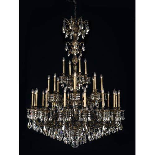 Schonbek Milano Midnight Gild Light Silver Shade Swarovski Strass - Strass chandelier crystals