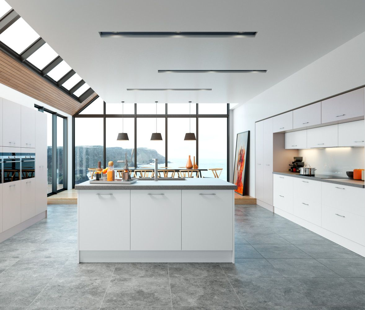 Belair White An Ethos Kitchen From The Choose Style Range   Kitchens Direct  NI